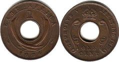 BRITISH EAST AFRICA 1 cent GEORGIVS V