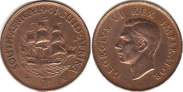 South Africa 1 penny 1941