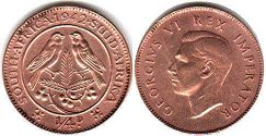 South Africa 1/4 penny 1942