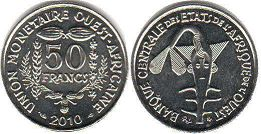 West African States 50 francs 2010