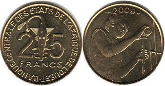 West African States 25 francs 2009