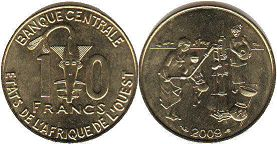 West African States 10 francs 2009