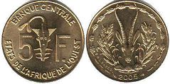 West African States 5 francs 2005