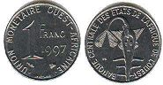 West African States 1 franc 1997