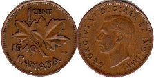 Канада 1 цент - Canada 1 cent 1940