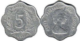 Eastern Caribbean States 5 cents 1995