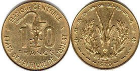 West African States 10 francs 1978