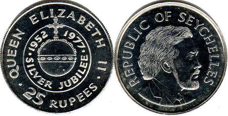 Seychelles 25 rupees 1977