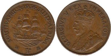 South Africa 1 penny 1936