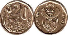 ЮАР 20 центов - South Africa 20 cents 2006