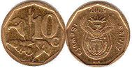 ЮАР 10 центов - South Africa 10 cents 2009