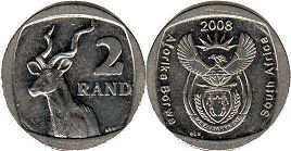 ЮАР 2 рэнда - South Africa 2 rand 2008