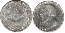 South Africa 6 pence 1897