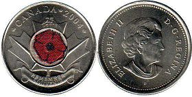Канада 25 центов - Canada 25 cents 2004