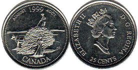 Канада 25 центов - Canada 25 cents 1999
