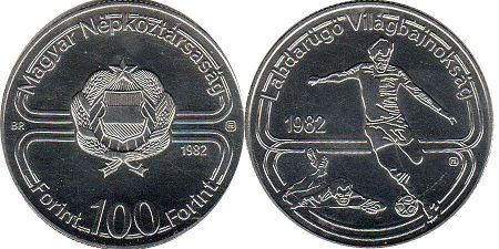монета Венгрия 100 форинтов 1982