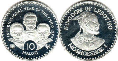Lesotho 10 maloti 1979 Year of the Child