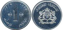 Morocco 1 centime 1974