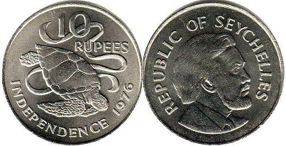 Seychelles 10 rupees 1976