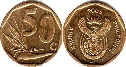 ЮАР 50 центов - South Africa 50 cents 2008