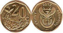 ЮАР 20 центов - South Africa 20 cents 2012