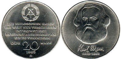 Germany DDR 20 mark 1983
