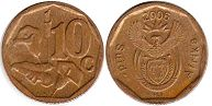 ЮАР 10 центов - South Africa 10 cents 2006