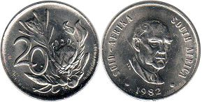 ЮАР 20 центов - South Africa 20 cents 1982