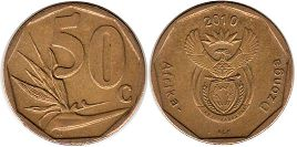 ЮАР 50 центов - South Africa 50 cents 2010