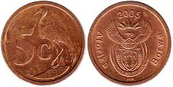 ЮАР 5 центов - South Africa 5 cents 2005