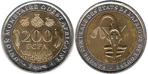 West African States 200 francs 2004