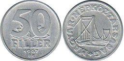 монета Венгрия 50 филлеров 1967