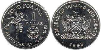 Тринидад и Тобаго 1 доллар - Trinidad and Tobago 1 dollar 1995