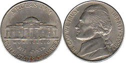 USA 5 cents 2000