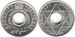 ONE TENTH OF A PENNY BRITHSH WEST AFRICA GEORGIVS VI