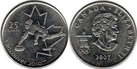 Канада 25 центов - Canada 25 cents 2007