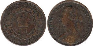 New Brunswick 1 cent 1861