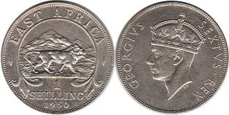 BRITISH EAST AFRICA 1 shilling GEORGIVS VI