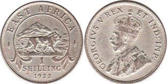 BRITISH EAST AFRICA 1 shilling GEORGIVS V