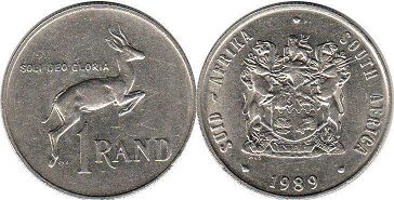 South Africa 1 rand 1989