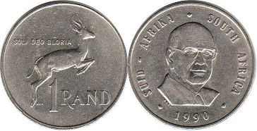 South Africa 1 rand 1990