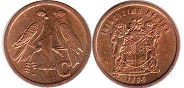 ЮАР 1 цент - South Africa 1 cent 1996