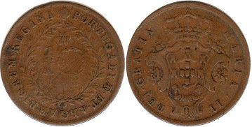 Portugal Azores 10 reis 1843