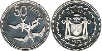 Белиз 50 центов - Belize 50 cents 1977
