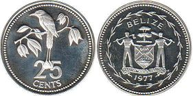 Белиз 25 центов - Belize 25 cents 1977