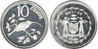 Белиз 10 центов - Belize 10 cents 1981