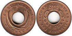 BRITISH EAST AFRICA 1 cent ELIZABETH