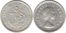 South Africa 1 shilling 1958