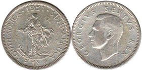 South Africa 1 shilling 1951