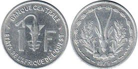 West African States 1 franc 1975